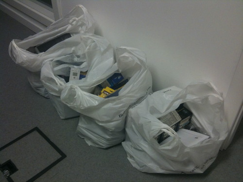 4 bags of electronic components and gear