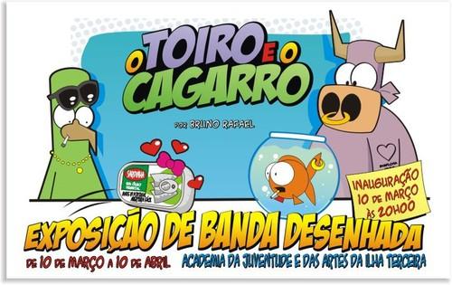 Amanhã, na Praia da Vitória, o Bruno Rafael mostra as suas tiras...