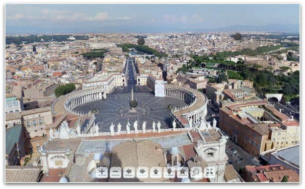 vaticano roma itália vista panorâmica imagem 360 graus
