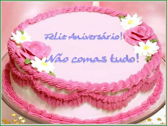 bolo aniversário mensagem postal virtual