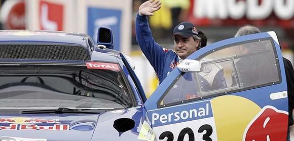"""Carlos Sainz, o vencedor da edição 2010 do """"Dakar""""..."""