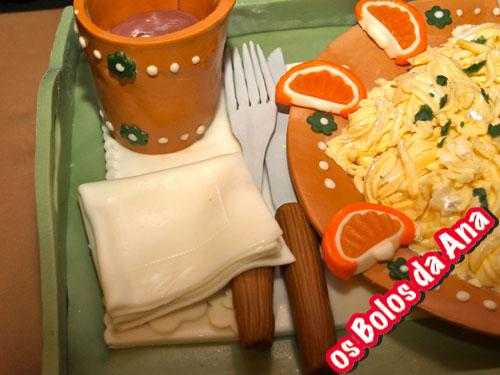 Bolo tabuleiro de comida - Food tray cake