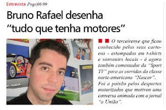 """Bruno Rafael, na capa d' """"a UNIÃO"""" desta manhã..."""