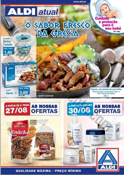 Antevisão folheto ALDI Promoções a partir de 27 agosto