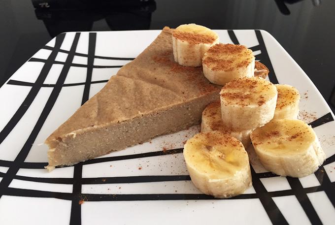 tarte de banana e aveia