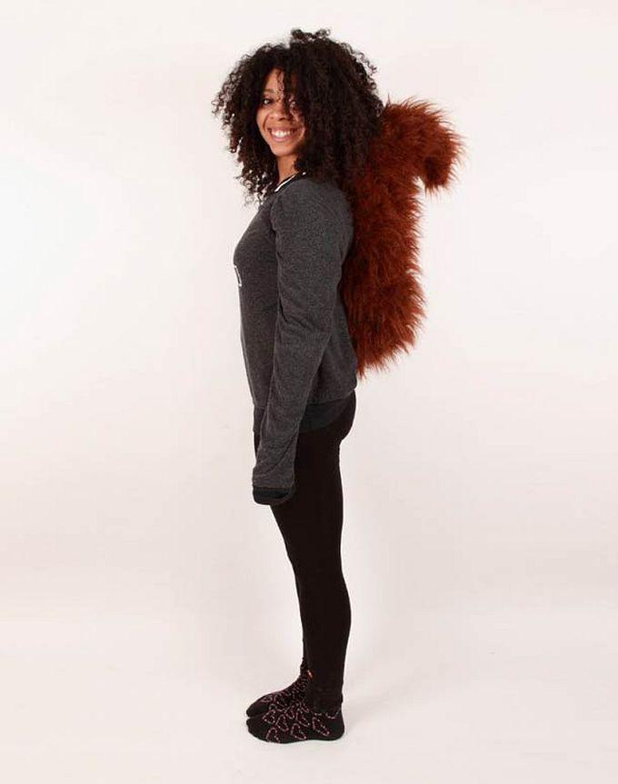 roupa moda caudas animais