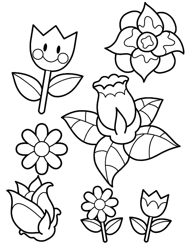 flores para pintar desenhos da primavera para colorir desenhos
