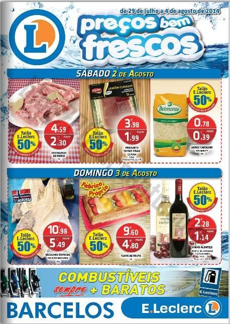 Antevisão Folheto E-LECLERC Barcelos Promoções de 29 julho a 4 agosto