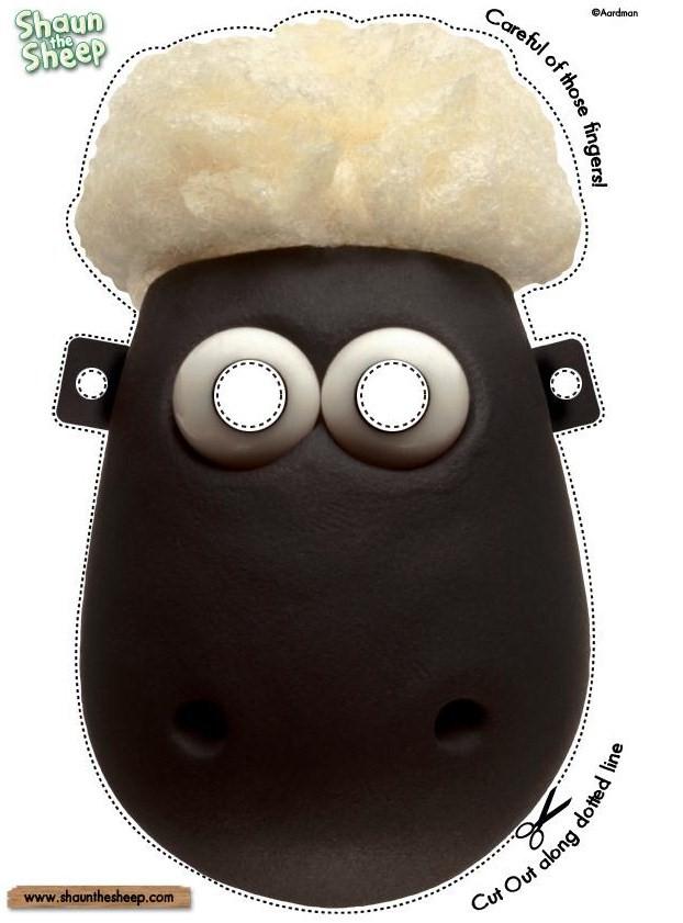 Imprimir carnaval shaun the sheep chon 233 brinquedos de papel