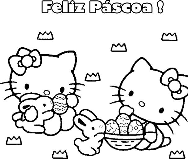 Desenhos Para Imprimir Da Páscoa Com Hello Kitty Imagens