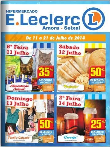 Antevisão Folheto E-LECLERC Amora-seixal de 11 a 21 julho