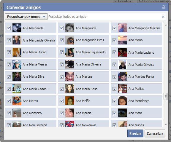 convidar facebook