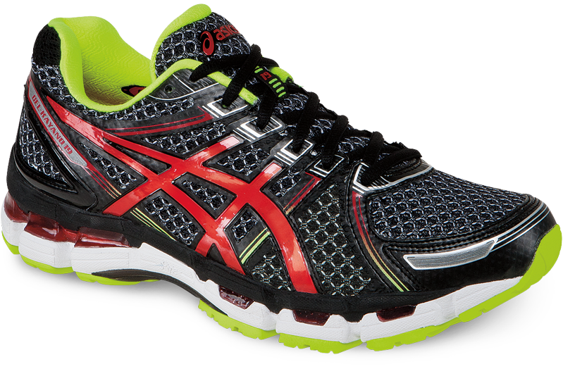 kayano-mens-blackRedLime