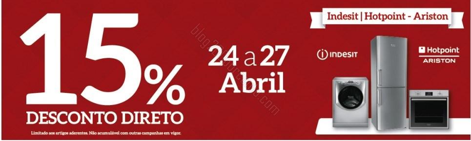 15% de desconto imediato | JOM | de 24 a 27 abril