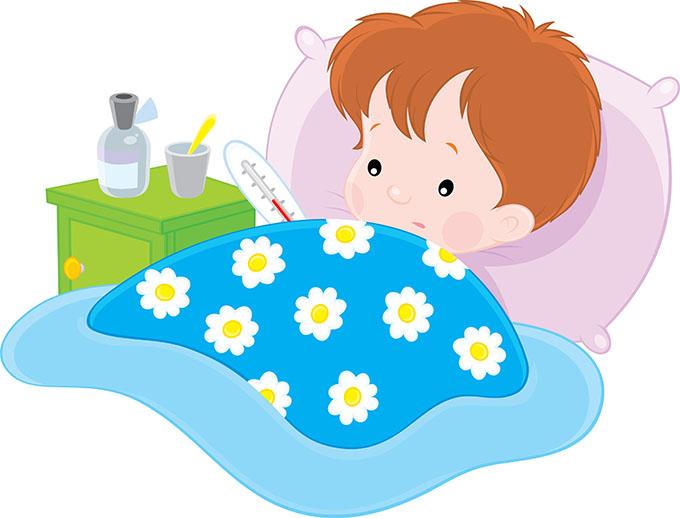 bebés com febre