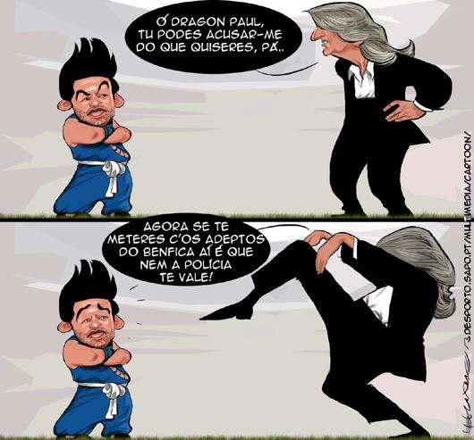 Cartoons - Jorge Jesus mete-se com a polícia