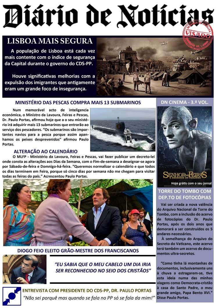 Diário de Notícias versão CDS-PP