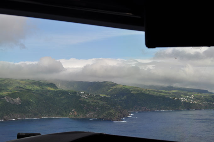 Vista do avião Açores