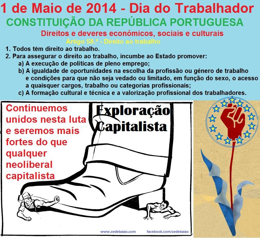 constituição da república portuguesa, dia do trabalhador primeiro de maio