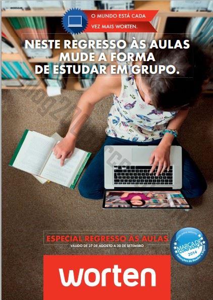 Novo Folheto WORTEN Especial Regresso às aulas de 27 agosto a 30 setembro