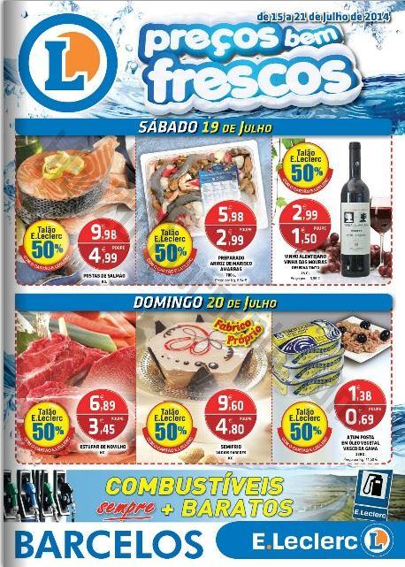 Novo folheto E-LECLERC Barcelos de 15 a 21 julho