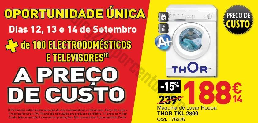 Promoções CONFORAMA Preço de custo - de 12 a 14 setembro