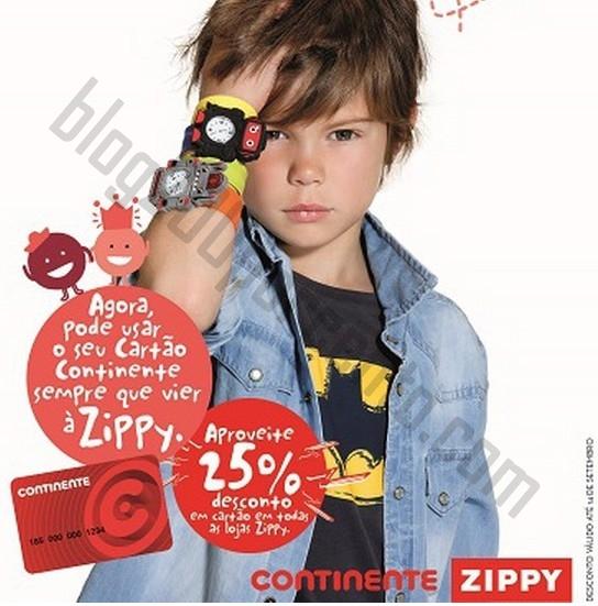 25% de desconto ZIPPY de 4 a 14 setembro - em Cartão Continente