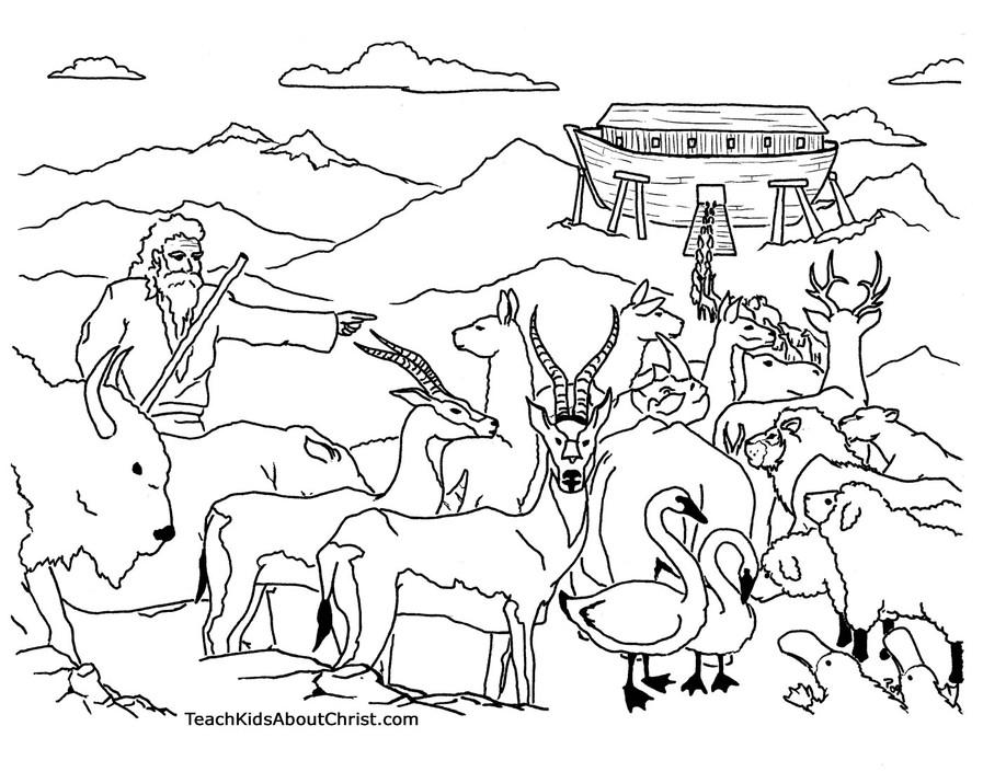 desenhos para colorir da arca de no brinquedos de papel